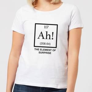Ah The Element Of Surprise Women's T-Shirt - White