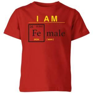I Am Fe Male Kids' T-Shirt - Red