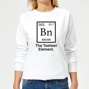 Bacon Element Women's Sweatshirt - White