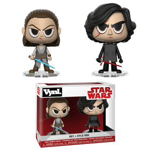 Star Wars The Force Awakens Rey and Kylo Funko Vynl.