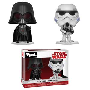 Star Wars Empire Strikes Back Darth Vader and Stormtrooper Funko Vynl.