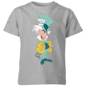 T-Shirt Enfant Chapelier Fou Alice au Pays des Merveilles Disney - Gris