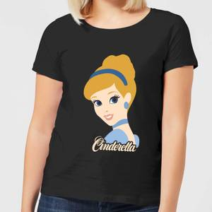 Disney Princess Colour Silhouette Cinderella Women's T-Shirt - Black