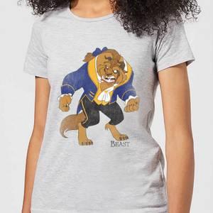 Disney Beauty And The Beast Classic Women's T-Shirt - Grey