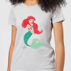 T-Shirt Femme Ariel La Petite Sirène Disney - Gris