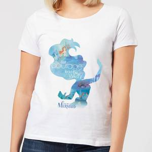 T-Shirt Femme Silhouette La Petite Sirène Disney - Blanc