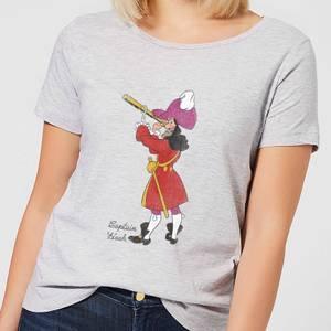 Disney Peter Pan Captain Hook Classic Women's T-Shirt - Grey