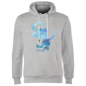 Disney Princess Filled Silhouette Ariel Hoodie - Grey