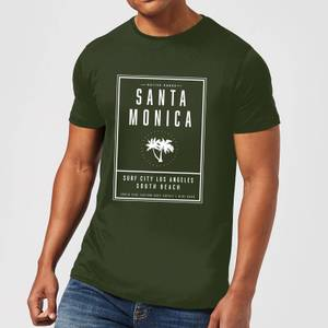 Native Shore Men's Santa Monica Surf City T-Shirt - Forest Green