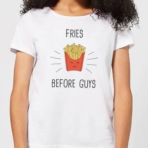 Fries before Guys Frauen T-Shirt – Weiß
