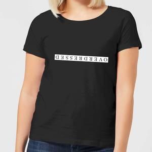 Overdressed White Women's T-Shirt - Black