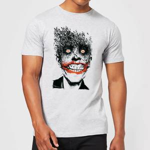 DC Comics Batman Joker Face Of Bats T-Shirt in Grey