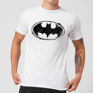 DC Comics Batman Sketch Logo T-Shirt in White