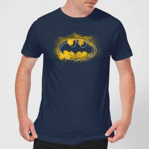 DC Comics Batman Spray Logo T-Shirt in Navy