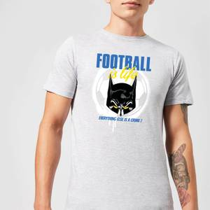 DC Comics Batman Football Is Life T-Shirt in Grey