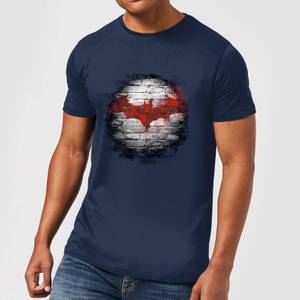 DC Comics Batman Logo Wall T-Shirt in Navy