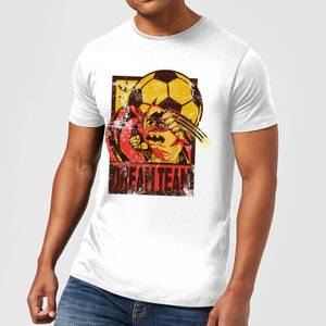 DC Comics Batman Dream Team Punch T-Shirt in White