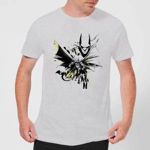 DC Comics Batman Batface Splash T-Shirt in Grey