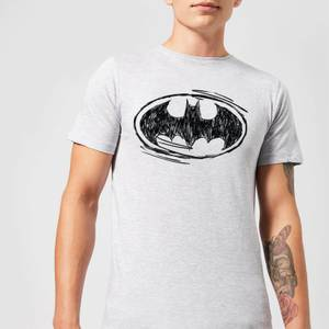 T-Shirt Homme Batman DC Comics - Croquis Logo - Gris