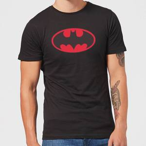 DC Comics Batman Red Logo T-Shirt - Black