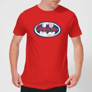 DC Comics Batman Japanese Logo T-Shirt - Red