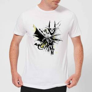 T-Shirt Homme Batman DC Comics - Batface Splash - Blanc