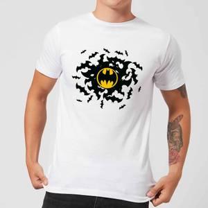 T-Shirt Homme Batman DC Comics Tourbillon de Chauve-Souris - Blanc