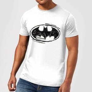 DC Comics Batman Sketch Logo T-Shirt in White
