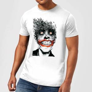 DC Comics Batman Joker Face Of Bats T-Shirt in White