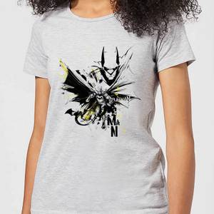 DC Comics Batman Batface Splash Women's T-Shirt in Grey