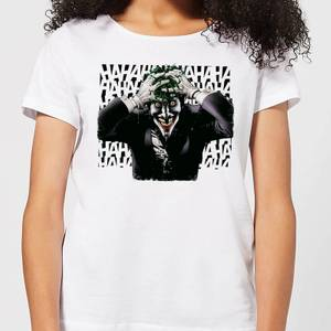 Camiseta DC Comics Batman Joker Hahaha - Mujer - Blanco