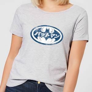 DC Comics Batman Japanese Logo Women's T-Shirt in Grey