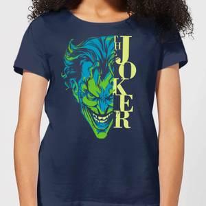 T-Shirt Femme Batman DC Comics - Joker Split - Bleu Marine
