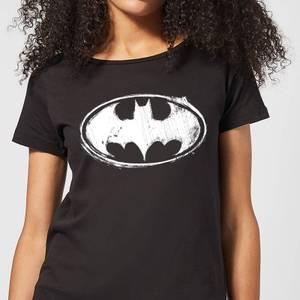 Batman Sketch Logo Damen T-Shirt - Schwarz