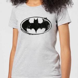 DC Comics Batman Sketch Logo Women's T-Shirt in Grey