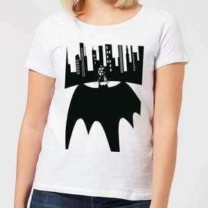 DC Comics Batman Bat Shadow Women's T-Shirt in White