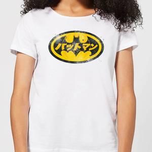 T-Shirt Femme Batman DC Comics - Logo Japonais - Blanc