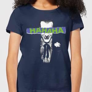 T-Shirt Femme Batman DC Comics - Joker HAHAHA - Bleu Marine