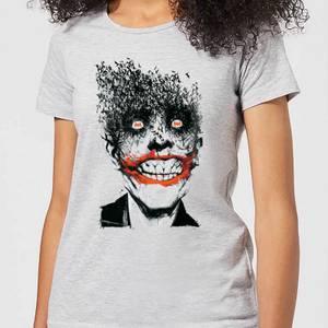 DC Comics Batman Joker Face Of Bats Women's T-Shirt in Grey