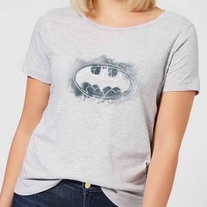 T-Shirt Femme Batman DC Comics Logo Graffiti - Gris