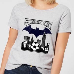 DC Comics Batman Football Gotham City Women's T-Shirt - Grey