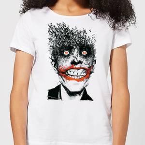 DC Comics Batman Joker Face Of Bats Women's T-Shirt - White