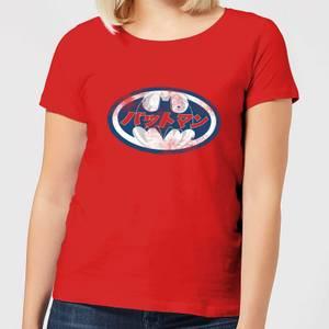 T-Shirt Femme Batman DC Comics - Logo Japonais - Rouge