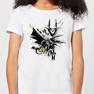 Batman Batface Splash Damen T-Shirt - Weiß