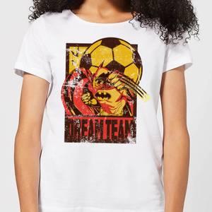 Batman Dream Team Punch Damen T-Shirt - Weiß