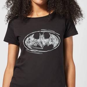 DC Comics Batman Sketch Logo Women's T-Shirt - Black