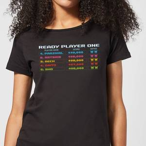 Ready Player One 8 Bit Scoreboard Women's T-Shirt - Black