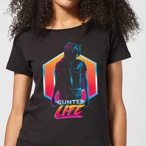 T-Shirt Femme Ready Player One Gunter Life - Noir