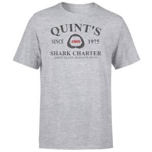 T-Shirt Lo Squalo Quint's Shark Charter - Grigio
