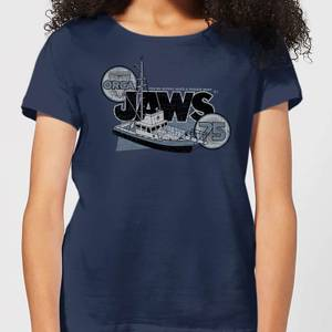 Camiseta Tiburón Orca 75 - Mujer - Azul marino